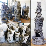 Ceramic Vase Hawaiian Totem